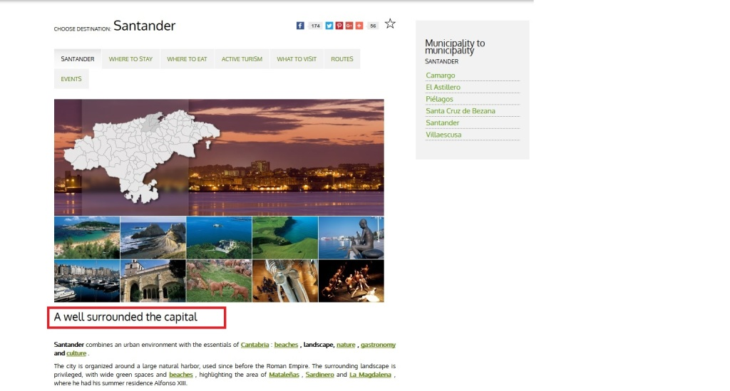 Web turismo Cantabria